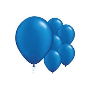 Ballonnen donker blauw M