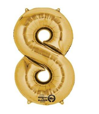 Ballonnen cijfers goud