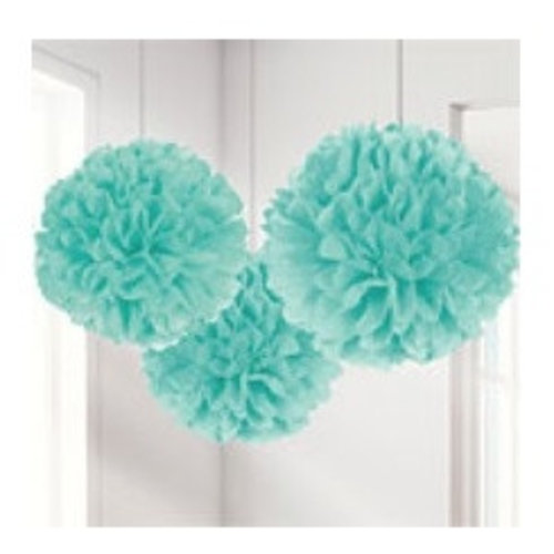 Pompom set pastel groen/blauw