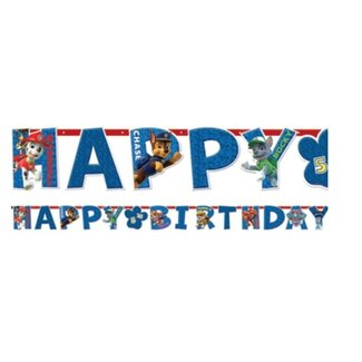 Amscan  Paw Patrol happy birthday slinger
