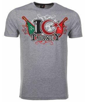 Mascherano T-shirt I Love Turkey - Grey