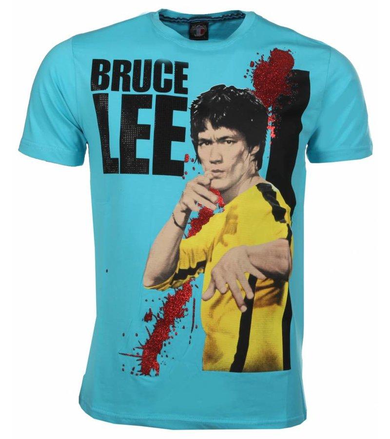 Mascherano T-shirt Bruce Lee - Aqua Blue