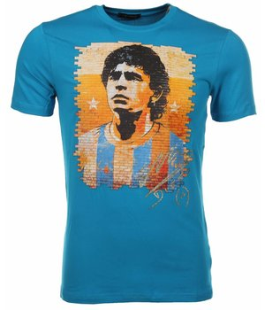 Mascherano T-shirt Football Player - Blue