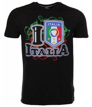 Mascherano T-shirt I Love Italia - Black