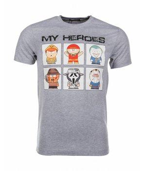 Mascherano T-shirt My Heroes - Grey