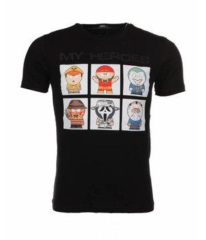Mascherano T-shirt My Heroes - Black