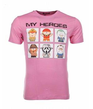 Mascherano T-shirt My Heroes - Pink