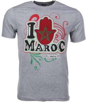 Mascherano T-shirt I Love Maroc - Grey