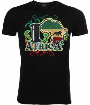 Mascherano T-shirt I Love Africa - Black