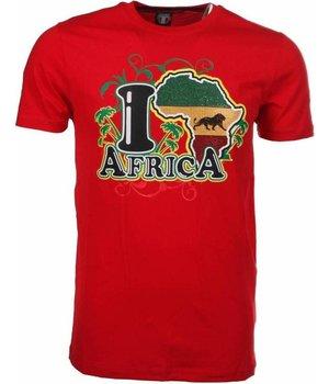 Mascherano T-shirt I Love Africa - Red