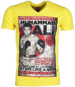 Mascherano T-shirt - Muhammad Ali - Yellow