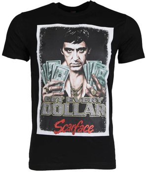 Mascherano T-shirt - Scarface Get Every Dollar - Black