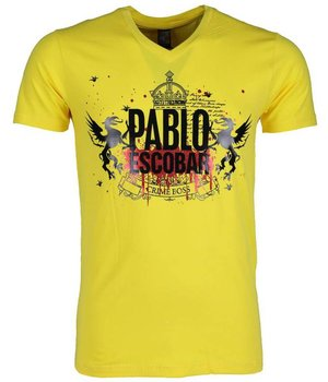 Mascherano T-shirt - Pablo Escobar Crime Boss - Yellow