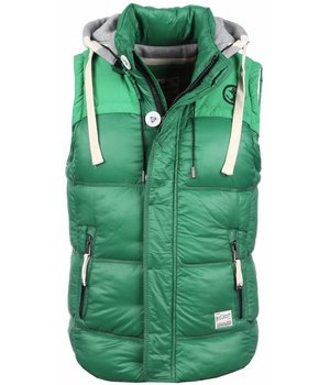 Yole Bodywarmer - Basic Hooded - Green