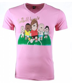 Mascherano T-shirt - Football Legends Print - Pink