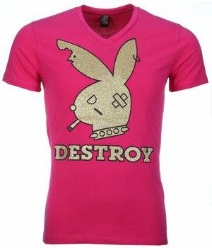 Mascherano T-shirt - Destroy Print - Pink