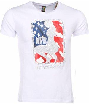 Mascherano T-shirt - NPA Print - White