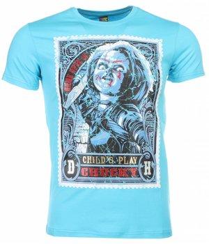 Mascherano T-shirt - Chucky Poster Print - Blue