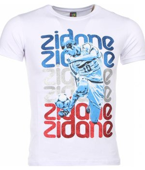 Mascherano T-shirt - Zidane Print - White