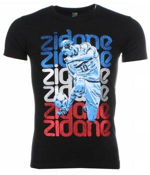 Mascherano T-shirt - Zidane Print - Black