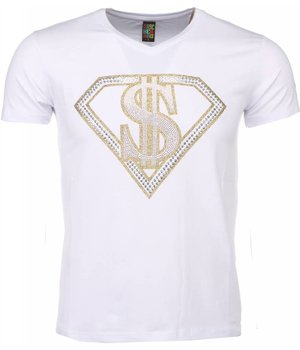 Mascherano T-shirt - Superman Dollar Print - White