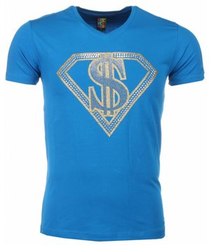 Mascherano T-shirt - Superman Dollar Print - Blue
