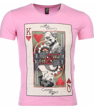 Mascherano T-shirt - James Bond Casino Royale Print - Pink