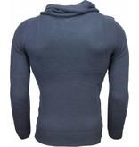 Always Casual Sweater - Trendy Men's Shawl Collar - Blue