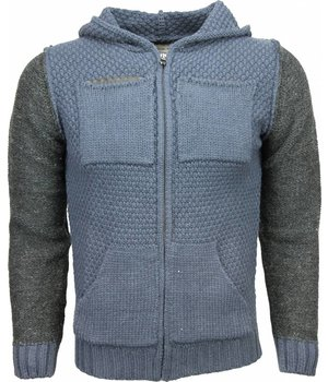 Enos Casual Hoodie - Woolen Hoodie Two Colours - Blue