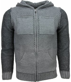 Enos Casual Hoodie - Woolen Hoodie Two Colours - Grey