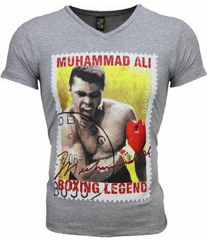 Mascherano T-shirt - Muhammad Ali Zegel Print - Grey