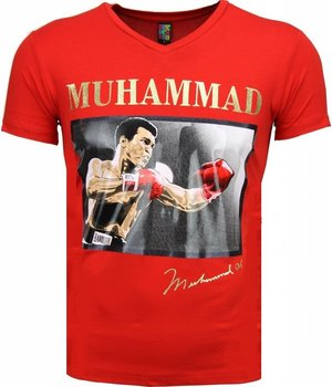 Mascherano T-shirt - Muhammad Ali Glossy Print - Red