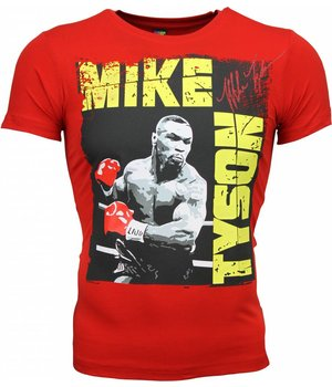 Mascherano T-shirt - Mike Tyson Glossy Print - Red