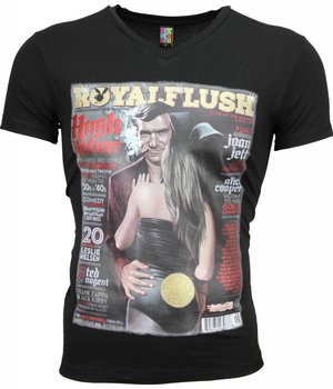 Mascherano T-shirt - Royal Flush Glossy Print - Black