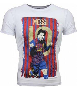 Mascherano T-shirt - Messi 10 Print - White