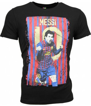Mascherano T-shirt - Messi 10 Print - Black