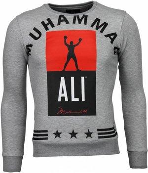 Local Fanatic Muhammad Ali Stars - Sweater - Grey