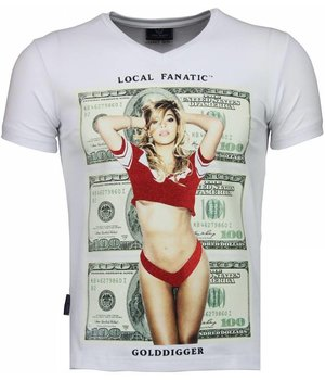 Local Fanatic Golddigger Dollar - T-shirt - White