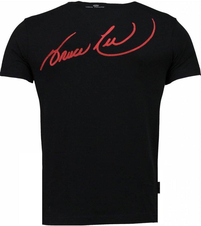 Local Fanatic Bruce Lee Ying Yang - T-shirt - Black