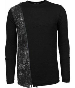 Enos Long Tee Zipper - Sweater - Black