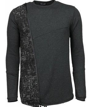 Enos Long Tee Zipper - Sweater - Dark Grey
