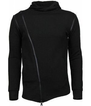 Daniele Volpe Casual Hoodie - Long Fit Zipper - Black