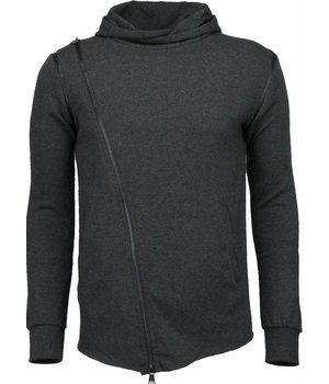 Daniele Volpe Casual Hoodie - Long Fit Zipper - Anthracite