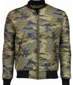 Y chromosome Casual Jacket - Army Stitched Bomber Jack - Yellow
