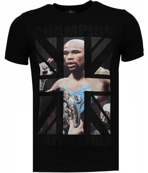 Local Fanatic Mayweather - Rhinestone T-shirt - Black