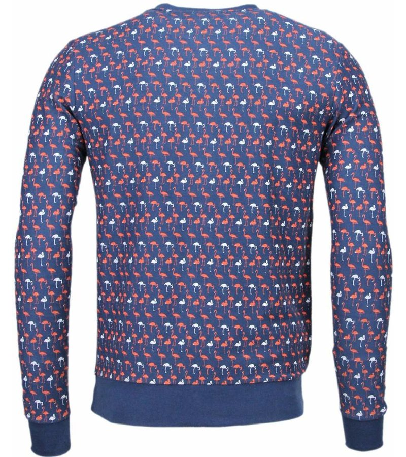 Black Number Flamingo - Sweater - Dark Blue