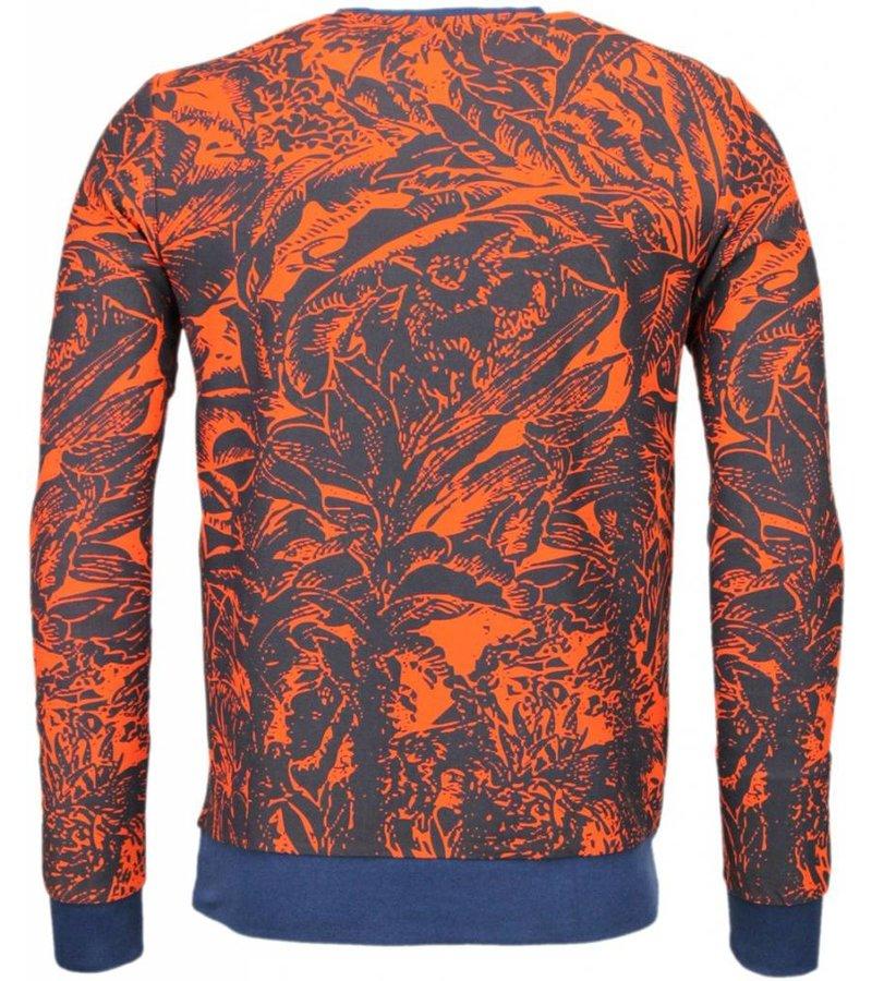 Black Number Park&Cash - Sweater - Orange