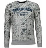 Black Number Park&Cash - Sweater - Grey