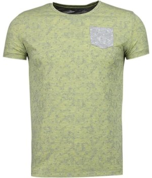 Black Number Browse Motif Summer - T-Shirt - Green