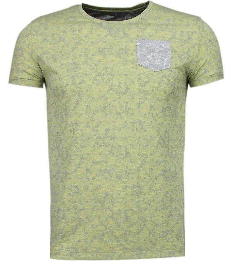 Black Number Browse Motif Summer - T-Shirt - Yellow